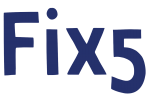 Fix5 logo blue